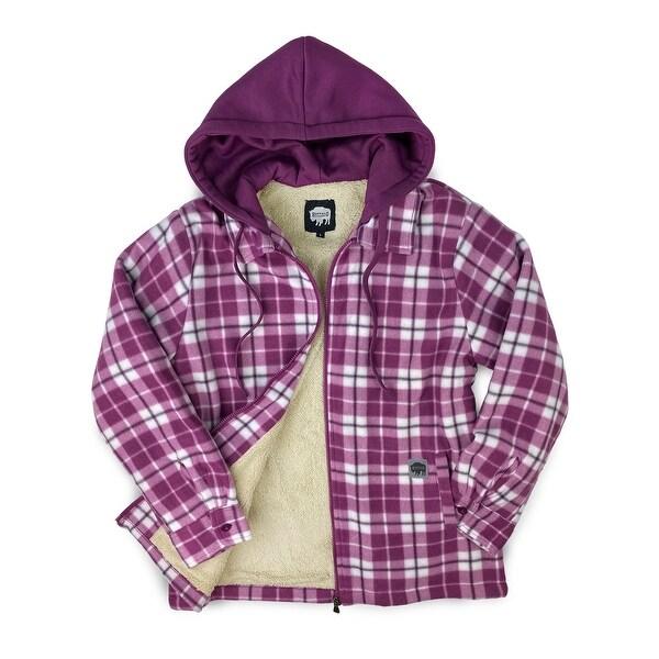 Buffalo Outdoors® Women's Sherpa Lined Hooded Fleece. Opens flyout.