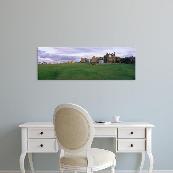 Easy Art Prints Panoramic Image 'Golf course, Silican Bridge Royal Golf Club, St. Andrews, Fife, Scotland' Canvas Art
