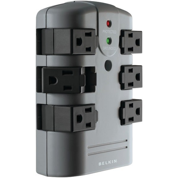 Belkin Bp106000 6-Outlet Pivot-Plug Surge Protector Wall Tap