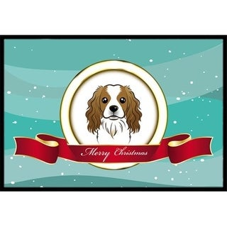 Carolines Treasures BB1534MAT Cavalier Spaniel Merry Christmas Indoor & Outdoor Mat 18 x 27 in.