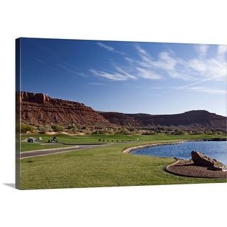 """Golf course, desert, St. George, Utah"" Canvas Wall Art"