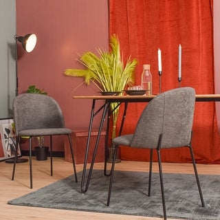 Link to Carson Carrington Idemala Mid-Century Modern Brushed Fabric Dining Chairs (Set of 2) Similar Items in Dining Room & Bar Furniture