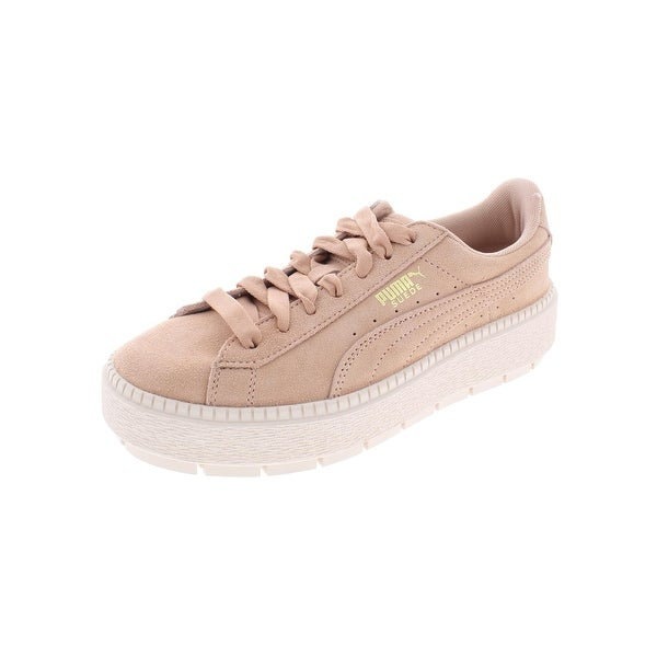 0f73df371f8 Shop Puma Womens Platform Trace Sneakers Suede - 7.5 Medium (B