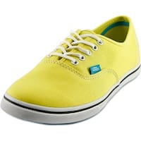 Vans Authentic Lo Pro Women  Round Toe Canvas Yellow Sneakers