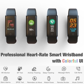 Smart Heart Rate Monitoring Fitness Tracker by Indigi - for iOS and Android (Bluetooth Sync + Pedometer + SMS/Call Alerts