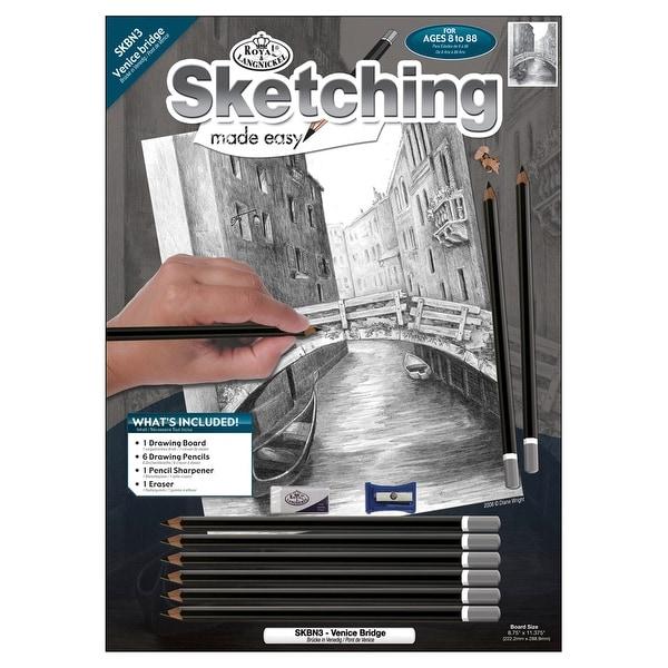"Sketching Made Easy Kit 9""X12""-Venice Bridge"