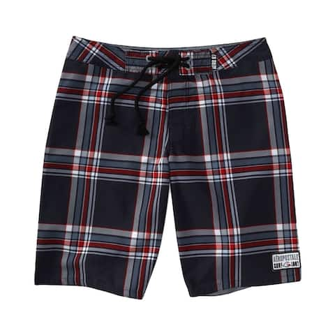Aeropostale Mens Plaid Swim Bottom Board Shorts - 28
