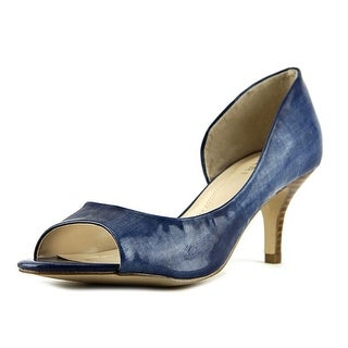 Tahari Race Open-Toe Leather Heels