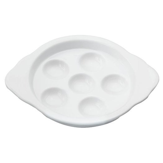 """HIC YK-301 Footed Escargot Plate, Porcelain, 5.5"""""""