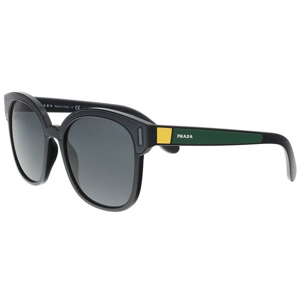 839e85cf9c00 Shop Prada PR 05US 07E5S0 Black  Grey  Yellow Square Sunglasses - 53 ...