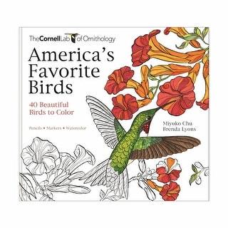 America's Favorite Birds Coloring Book All Ages - MultiColor