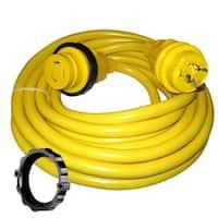 Marinco 30 Amp Power Cord Plus Cordset-35'-Yellow - 35SPP
