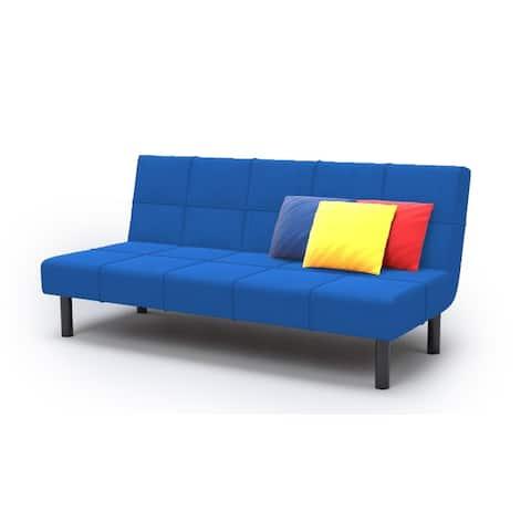 Modern Metal and Foam 3-seater Convertible Sleeper Sofa