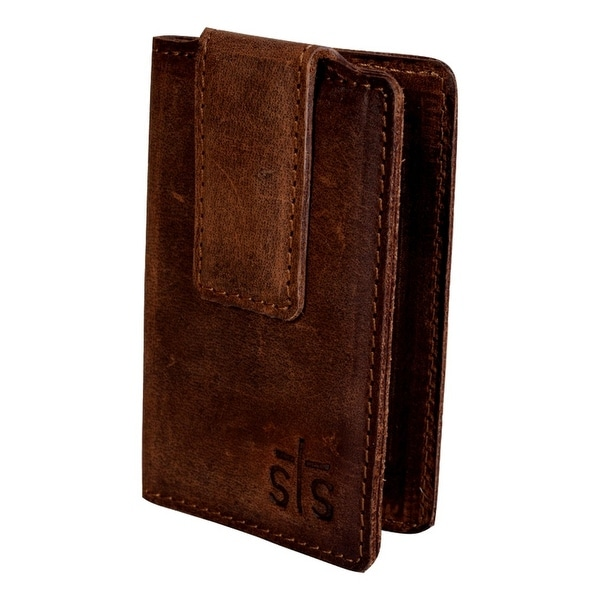 StS Ranchwear Western Wallet Mens Foreman Money Clip Brown - One size