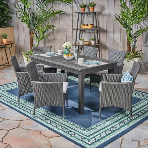 Nora Outdoor 7 Piece Expandable Dining Set by Christopher Knight Home