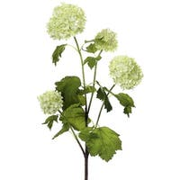 Club Pack of 12 Artificial Green Snowball Flower Sprays
