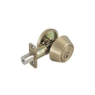 Design House 755306 Single Cylinder Deadbolt Reversible for Left or Right Hand Doors