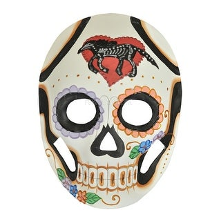 Pure Seasons Calavera Masquerade Mask (Horse) - White