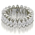 2.88 cttw. 14K White Gold Marquise Diamond Eternity Ring - Thumbnail 0