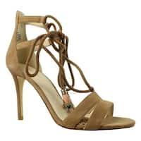 Nine West Womens 25026757 DarkNatural Ankle Strap Heels Size 9.5