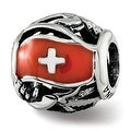 Sterling Silver Reflections Enameled Switzerland Theme Bead (4.5mm Diameter Hole) - Thumbnail 0
