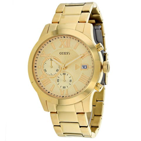 Guess Men's Classic Chronograph Gold Watch - W0668G4