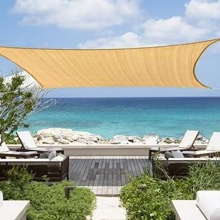 Link to 12x16 Ft  Rectangle Sun Shade Sail UV Block Canopy for Patio Backyard Similar Items in Patio Umbrellas & Shades