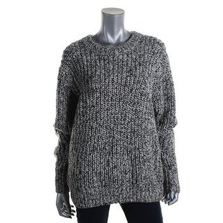 Michael Kors Womens Wool Marled Pullover Sweater