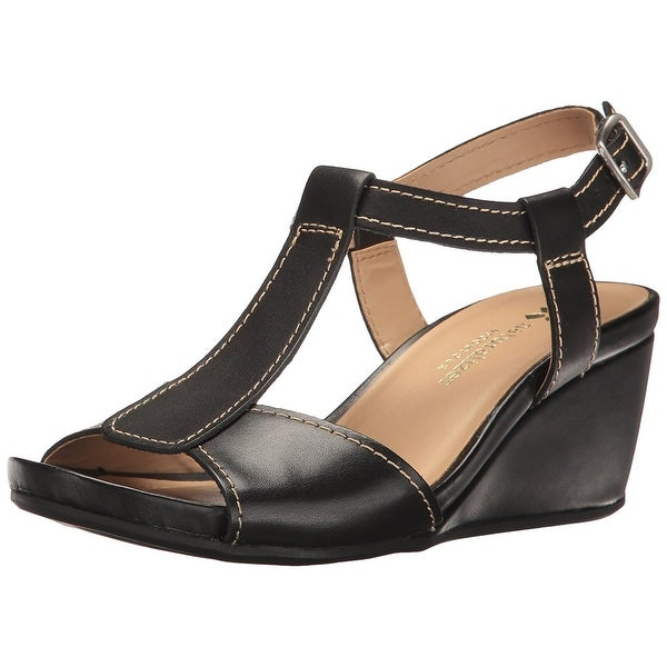 f8250e1074e Shop Naturalizer Womens Camilla Leather Open Toe Casual Platform ...
