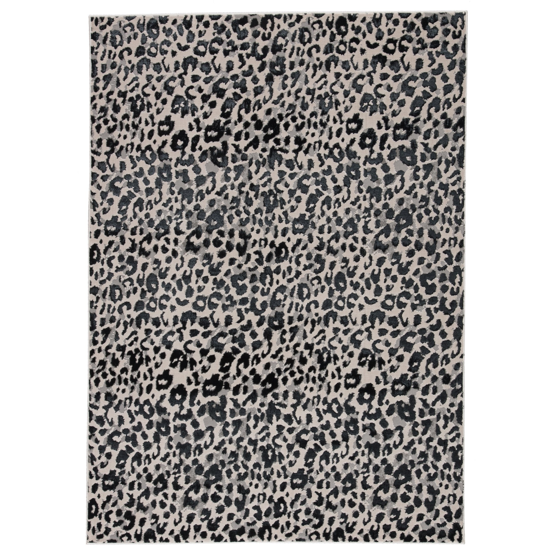 Silver Orchid Bellamy Power Loomed Gray Black Area Rug Overstock 30244268