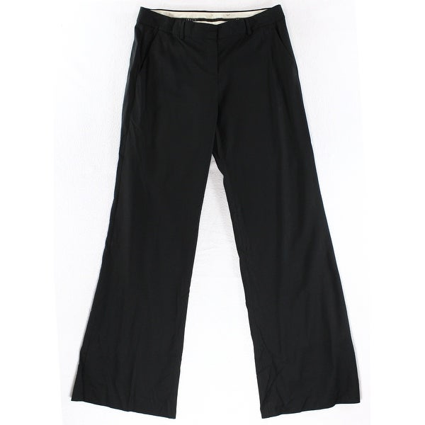 Theory NEW Solid Deep Black Women's Size 10X33 Straight Dress Pants