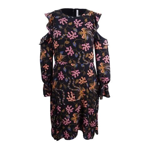 Rachel Rachel Roy Women's Printed Cold-Shoulder Midi Dress (14, Multi Combo) - Multi Combo - 14