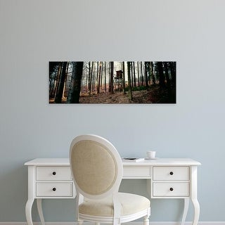 Easy Art Prints Panoramic Images's 'Lookout tower in a forest, Schwarzwalder Hochwald, Germany' Premium Canvas Art
