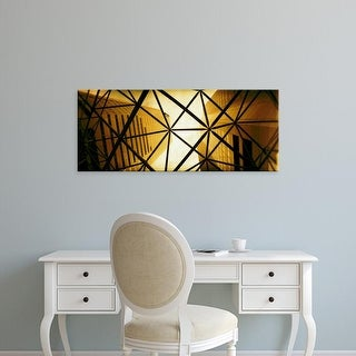 Easy Art Prints Panoramic Image 'Low angle view of skyscrapers in a city, Montreal, Quebec, Canada' Premium Canvas Art