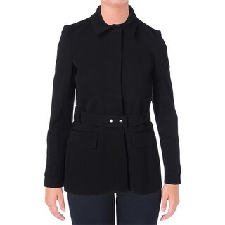 Theory Womens Galilania Jacket Knit Collar