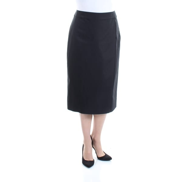 00f3dfb128 Shop Womens Black Midi Faux Wrap Wear To Work Skirt Size 14 - On Sale -  Free Shipping On Orders Over $45 - Overstock.com - 21349164