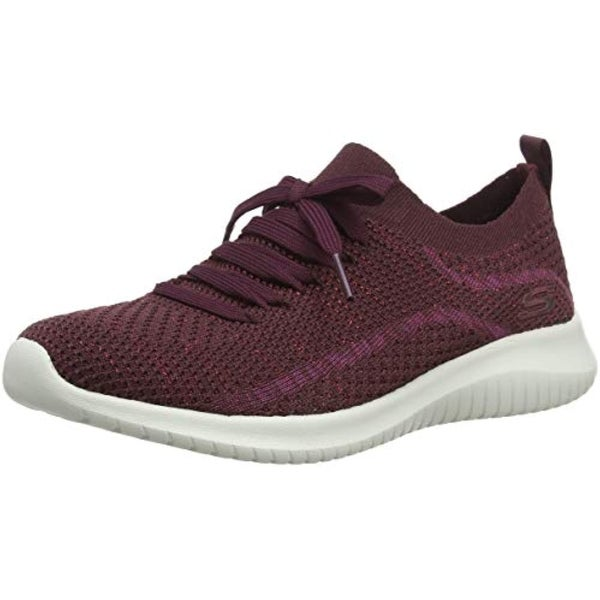huge selection of 0f2d2 1bb25 Shop Skechers Women s Ultra Flex-Salutations Slip On Trainers, Red  (Burgundy Burgundy) - Free Shipping Today - Overstock - 27122155