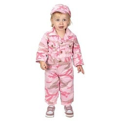 Aeromax Jr. Camouflage Costume with Cap, Pink (16-21 months)