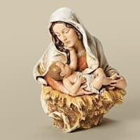 """6.75"""" Joseph's Studio Madonna with a Child's Touch Religious Table Top Bust Decoration - Brown"""