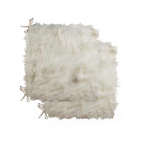 "LAREDO - Faux Sheepskin CHAIR PAD 16""X16"" - 2-PACK"