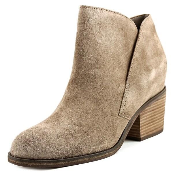 Jessica Simpson Tandra Women Round Toe Leather Tan Bootie