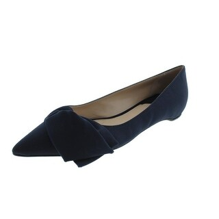 Paul Andrew Womens Corsage Ballet Flats Silk Bow - 35.5