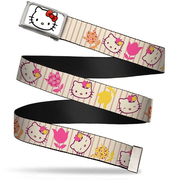 Hello Kitty Face Fcg White Chrome Frame Hello Kitty Tulip Expressions Web Belt