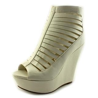 Cape Robbin Laura-NY-10 Women Open Toe Synthetic Wedge Heel