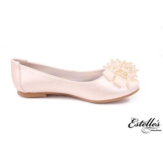 Satin Embellished Bow Ballet Flat