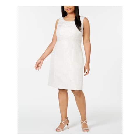 KASPER Ivory Sleeveless Knee Length Sheath Dress Size 18W
