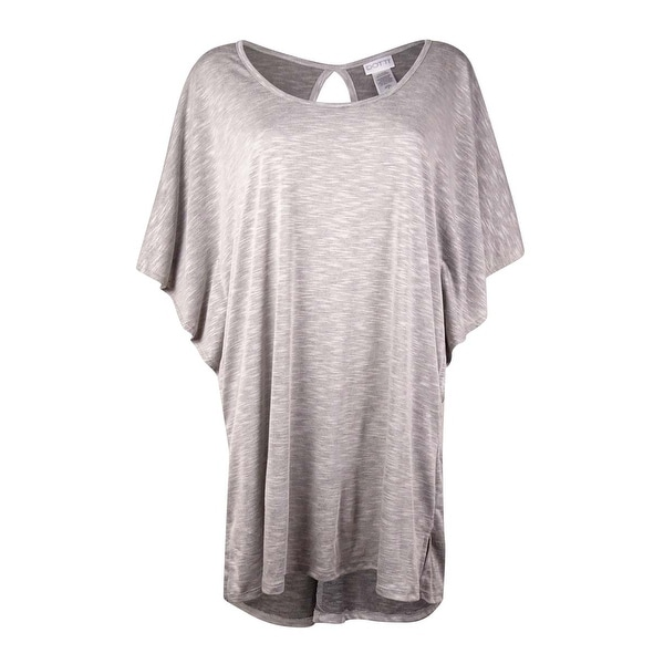 f2a3e7c265e13 Shop Dotti Women's Scoop-Neck Keyhole Jersey Swim Cover (M, Grey) - Grey -  M - Free Shipping On Orders Over $45 - Overstock - 16656027