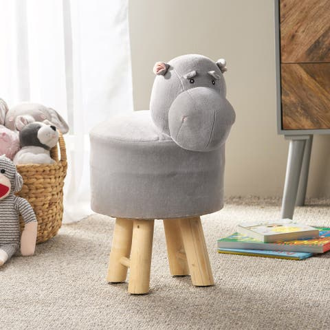 Marysvale Contemporary Kids Hippo Ottoman by Christopher Knight Home