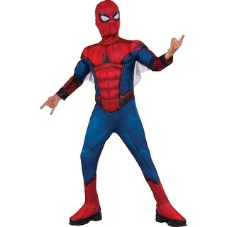 Boys Deluxe Muscle Chest Spiderman Homecoming Costume