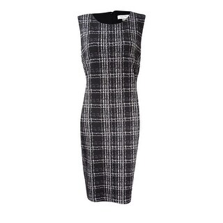 Calvin Klein Women's Matelasse Plaid Sheath Dress